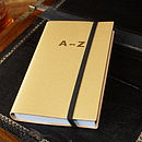 Recycled Gold Leather London A-Z Atlas