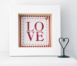 Cotton Anniversary Love Fabric Artwork - prints for christmas