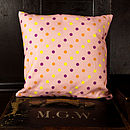 Pale Pink Dotty Cushion