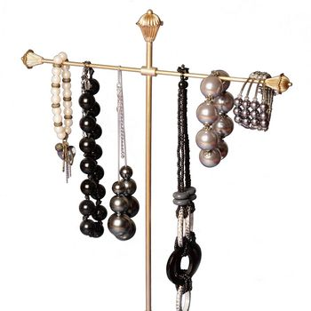 Necklace And Jewellery Stand Brass