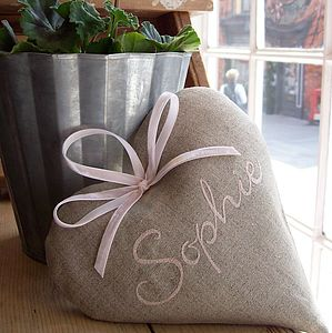 Personalised Embroidered Heart - home accessories