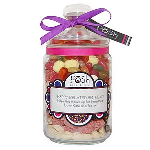 Large Personalised Sweet Jar - food & drink gifts