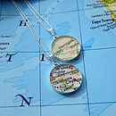 Sterling Silver Personalised Map Necklace By EVY Designs Ltd