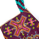 Indian Plaited Geo Shoulder Bag - Detail