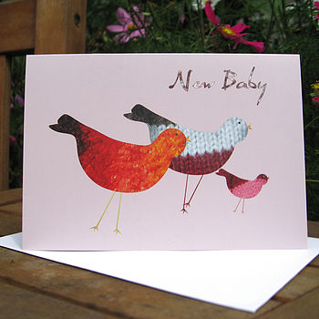 Birds New Baby Card