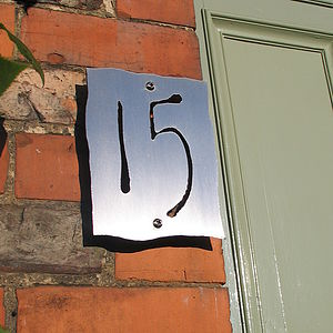 Bespoke Stainless Steel House Number - decorative accessories