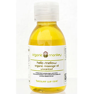 'Hello Mellow' Unscented Organic Massage Oil