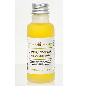 'Cheeky Monkey' Organic Cheek Rub Oil For Teething