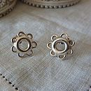 Silver Circles Stud Earrings