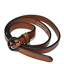 Skinny Leather Belt In Four Colours