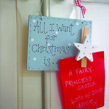 All i want for christmas sign