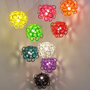 Loopy Lu Coloured Lampshade - lamp bases & shades