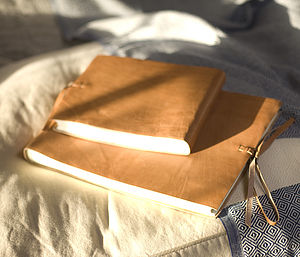 Rustic Leather Photo Album - for her