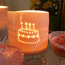 Porcelain Birthday Cake Tealight