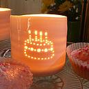 Porcelain Birthday Cake Tealight