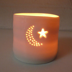 Porcelain Moonstar Tealight - tableware