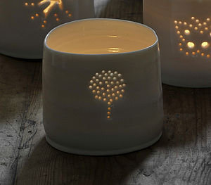Porcelain Topiary Tealight - home accessories