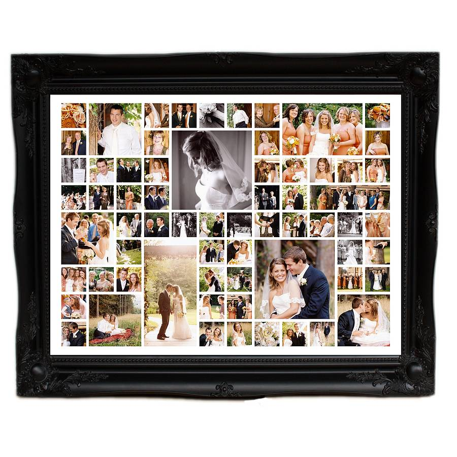 Personalised Wedding Photo Montage Extra Large By The
