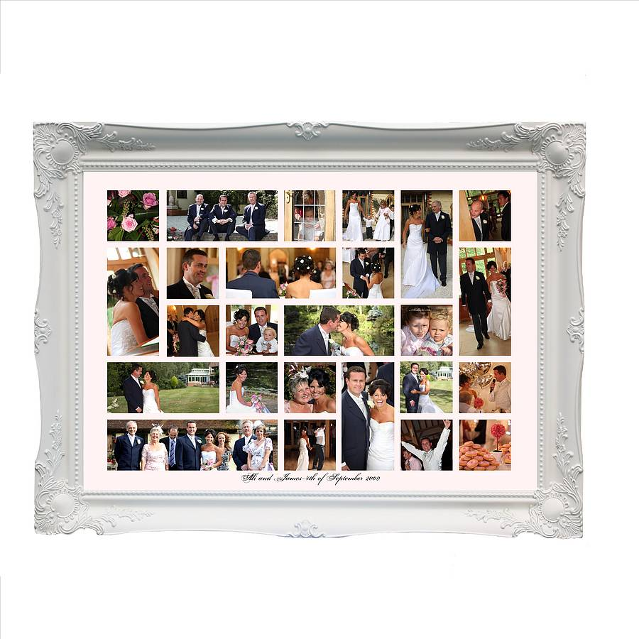 White Frame Large Wedding Wonderwall Clic Example Design Ww32