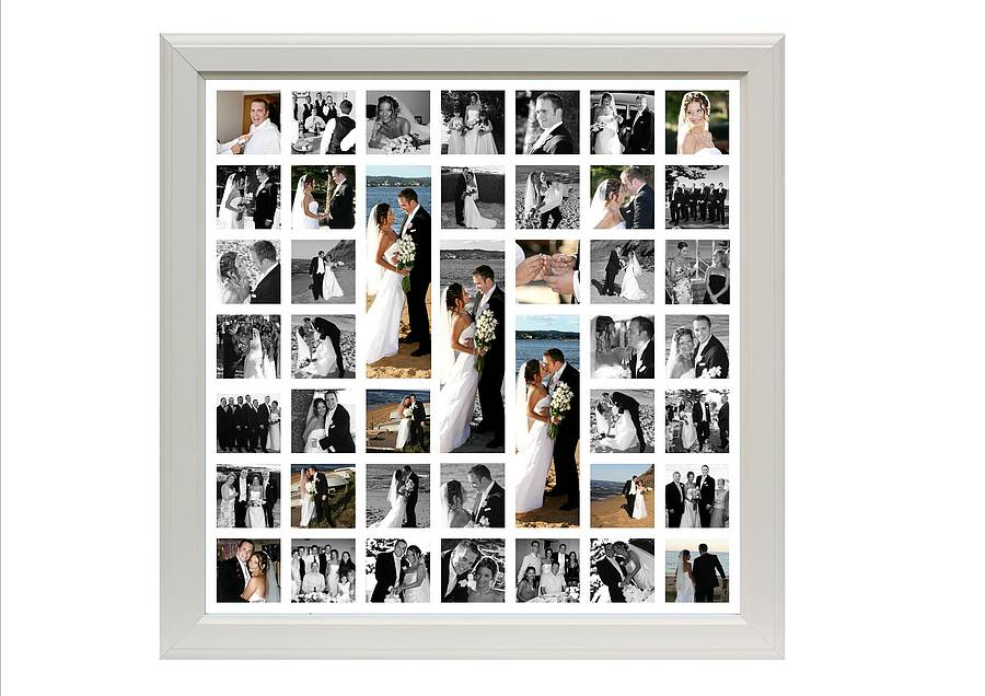Personalised Wedding Photo Montage By The Wonderwall Print