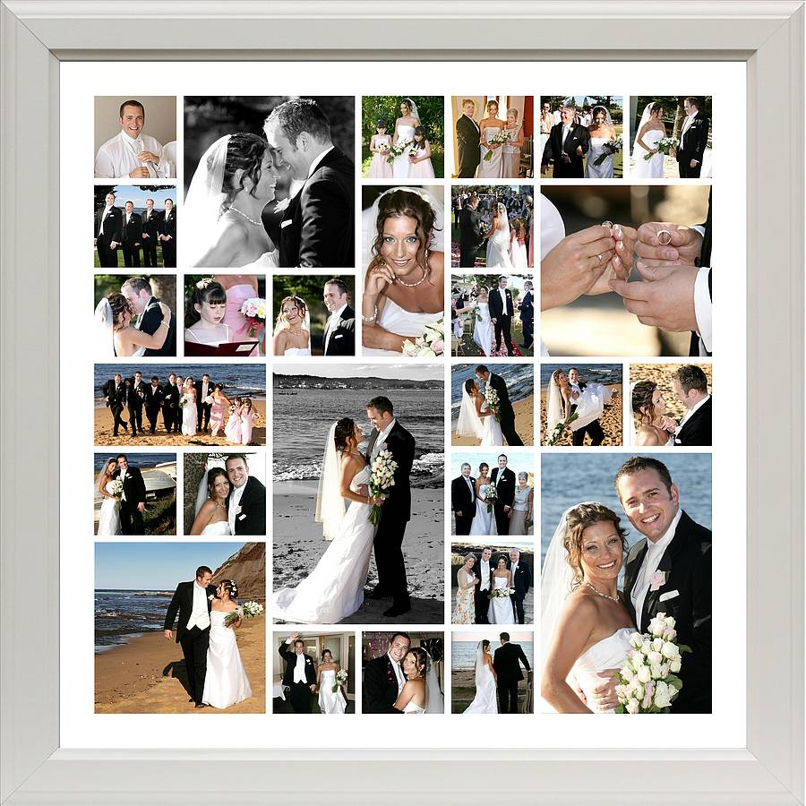 Montage picture frames images craft decoration ideas personalised wedding photo montage by the wonderwall print company ivory frame example design ww12 jeuxipadfo images jeuxipadfo Gallery