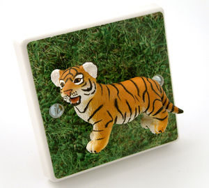 Children's Safari Bedroom Tiger Light Switch - lighting