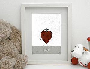 'Love Bug' Print Unframed - canvas prints & art