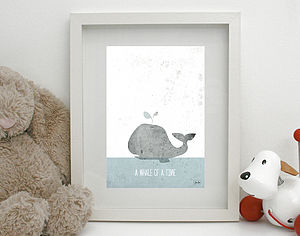 'Whale Of A Time' Print Unframed