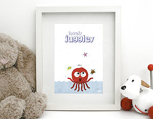 'Loverly Juggley' Print Unframed - nursery pictures & prints