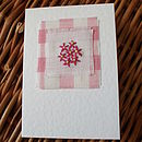 Hand Embroidered Flower Card