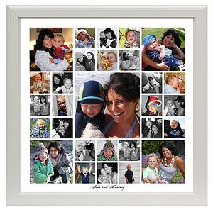 Mummy and Me Contemporary Personalised Photo Montage - picture frames
