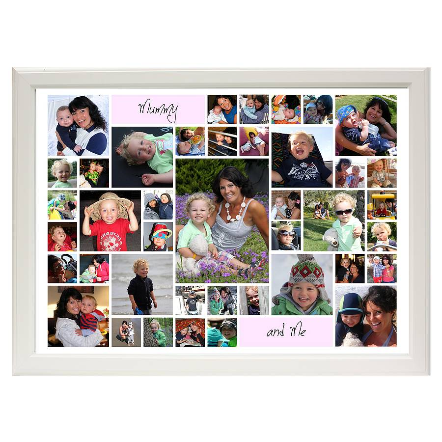 mummy and me contemporary personalised photo montage by the ...