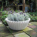 Oversized Cupcake Case Planter: white