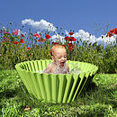 Oversized Cupcake Case Planter: green, as baby bath