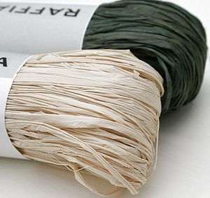 Rustic Raffia Bundles - ribbon & wrap