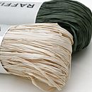 Natural and Green Raffia by Jane Means