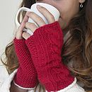 red 'cable' handwarmers