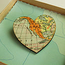 Map Location Heart Brooch