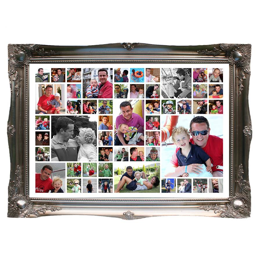 Daddy and me personalised photo montage by the wonderwall print daddy and me personalised photo montage jeuxipadfo Gallery