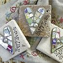 Personalised Heart Mosaic Limestone Tablet & Pouch