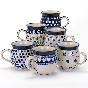 Tubby mugs in six designs