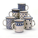 Large mugs in six designs