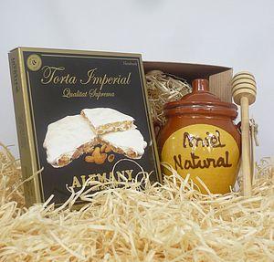 Spanish Turron and Honey Mini Hamper - food & drink gifts