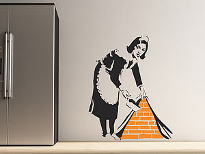 Banksy Maid Wall Stickers - shop by category