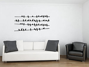 Birds On A Line Wall Stickers