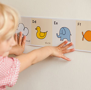 Alphabet Frieze - children's room accessories