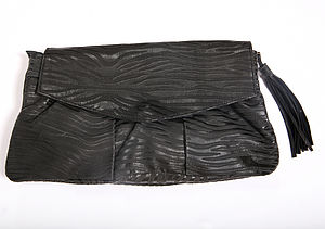 Genuine Leather Noor Clutch Bag - evening bags