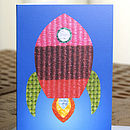 Space Rocket Card