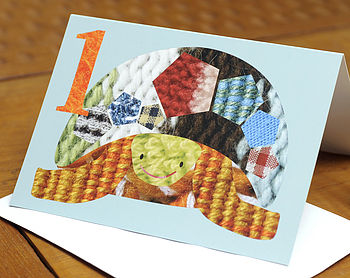 Age One Tortoise Birthday Card