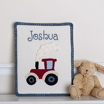 Personalised Red Tractor Canvas
